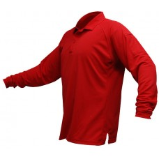 Vertx VTX4020RP Red Mens Long Sleeve Action Polos